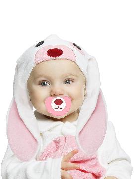 disfraz de conejo rosa orejon para bebe