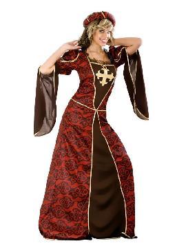 disfraz de cortesana lujo mujer. Te convertirás en una auténtica mujer de la época medieval cuando lleves este traje de medieval en representaciones teatrales, bodas medievales y mercados. Este disfraz es ideal para tus fiestas temáticas de disfraces época y medievales para la edad media adultos.