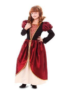 disfraz de cortesana medieval para niña