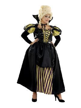 disfraz de cortesana negra mujer. Te convertirás en una auténtica mujer de la época medieval cuando lleves este traje de medieval en representaciones teatrales, bodas medievales y mercados. Este disfraz es ideal para tus fiestas temáticas de disfraces época y medievales para la edad media adultos.