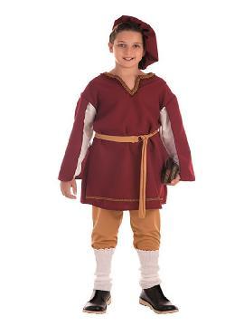 disfraz de cortesano medieval para niño