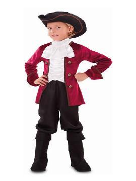 disfraz de cortesano medieval rojo niño