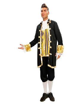 disfraz de cortesano negro hombre. Te convertirás en una auténtica hombre de la época medieval cuando lleves este traje de medieval en representaciones teatrales, bodas medievales y mercados. Este disfraz es ideal para tus fiestas temáticas de disfraces época y medievales para la edad media adultos.