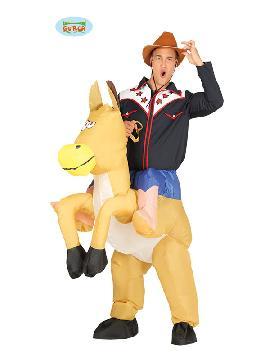 disfraz de cowboy de rodeo hinchable hombre