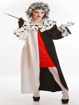 disfraz de cruela dalmata para mujer adulto