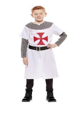 disfraz de cruzado medieval blanco niño