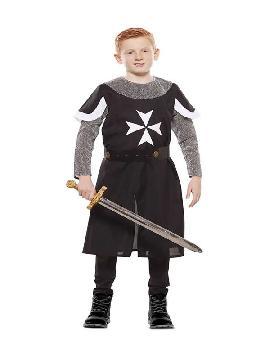 disfraz de cruzado medieval negro niño