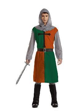 disfraz de cruzado verde para hombre