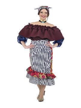 disfraz de cubana con volantes mujer