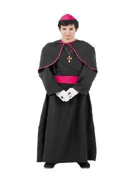disfraz de cura monseñor hombre
