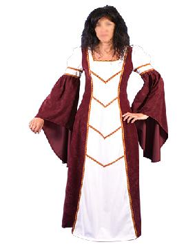 disfraz de dama blany medieval mujer adulto. Te convertirás en una auténtica mujer de la época medieval cuando lleves este vestido de dama blany medieval para mujer, representaciones teatrales y mercados medievales. Este disfraz es ideal para tus fiestas temáticas de disfraces epoca y medievales para la edad media adultos