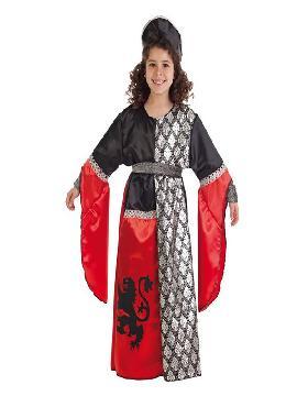 disfraz de dama medieval del leon para niña