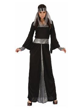 disfraz de dama medieval oscura para mujer