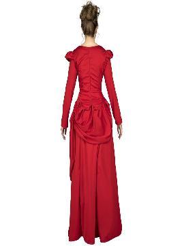 disfraz de dama roja del oeste para mujer
