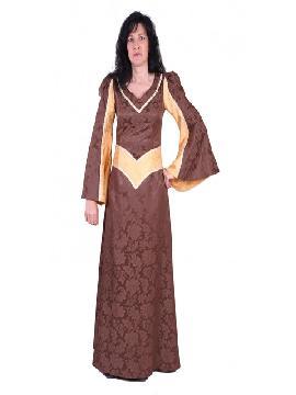disfraz de dama sabat medieval mujer adulto. Te convertirás en una auténtica mujer de la época medieval cuando lleves este vestido de dama sabat medieval para mujer, representaciones teatrales y mercados medievales. Este disfraz es ideal para tus fiestas temáticas de disfraces epoca y medievales para la edad media adultos