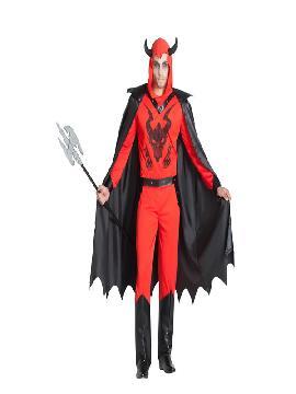 disfraz de demonio secta con capa hombre