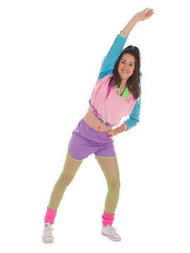 disfraz de deportista años 80 para mujer