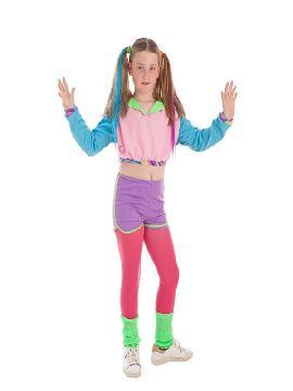 disfraz de deportista años 80 para niña