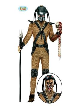 disfraz de depredador hombre. Con este traje de cazador del espacio sera un autentico monstruo de la clasica pelicula depredador. Este disfraz es ideal para tus fiestas temáticas de disfraces de personajes de television para adulto.