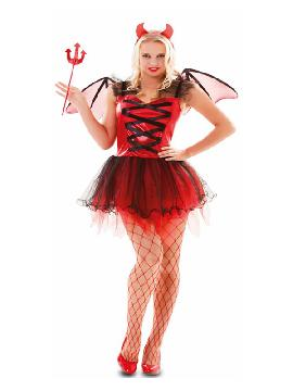 disfraz de diablesa con alas mujer