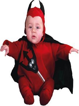 Disfraz de diablillo para bebé. Es muy cómodo para vestir a los diminutos de la casa, y que puedan hacer mil travesuras en las fiestas temáticas de las guarderías, en halloween. Es ideal para tus fiestas temáticas de disfraces de miedo y diablos para niños infantiles.