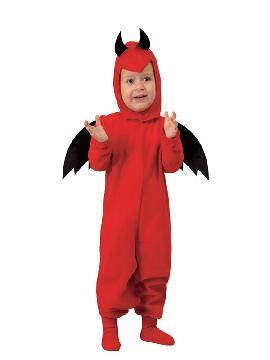 disfraz de diablillo bebe rojo y cómodo para vestir a los mas pequeños de la casa, y que puedan hacer mil travesuras en las fiestas temáticas de las guarderías y en halloween. Es ideal para tus fiestas temáticas de disfraces de miedo y diablos.