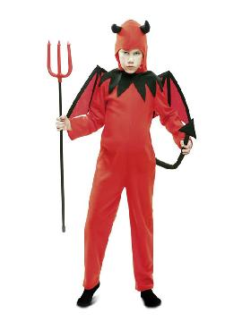 disfraz de diablo rojo para niño