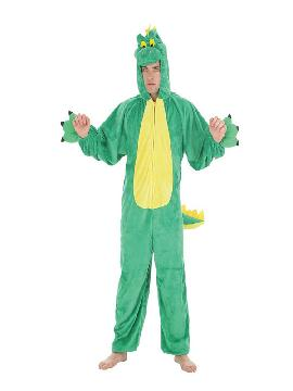 disfraz de dinosaurio verde para hombre