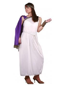 disfraz de diosa griega barato mujer. Con este elegante vestido que te convertirá en la diosa del matrimonio y reina de los dioses en carnaval. Este disfraz es ideal para tus fiestas temáticas de disfraces de guerreros y arabes, romanos y egipcios adultos pareja o familias.