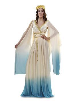 disfraz de diosa griega mujer. Este tipo de vestidos, son favorecedores y aportan mucho estilo, para poder asistir a cenas y bailes de disfraces elegantes. Este disfraz es ideal para tus fiestas temáticas de disfraces de guerreros y arabes, romanos y egipcios adultos pareja o familias.