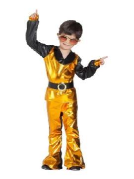 disfraz de disco dorado niño