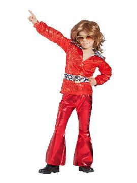disfraz de disco rojo niño