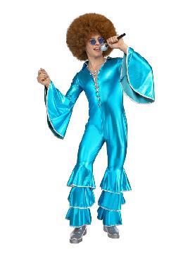 disfraz de disco turquesa para hombre