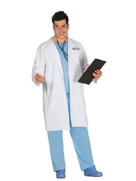 disfraz de doctor con bata hombre