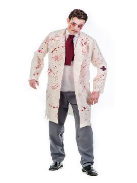 disfraz de doctor zombie hombre