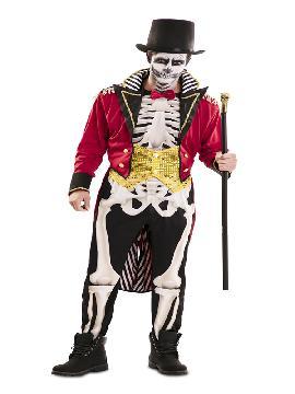 disfraz de domador esqueleto hombre