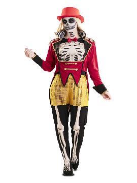 disfraz de domadora esqueleto para mujer