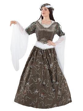 disfraz de doncella medieval mujer adulto. Te transformará en una auténtica protagonista de la época Medieval con este disfraz de sirvienta. Este disfraz es ideal para tus fiestas temáticas de disfraces epoca y medievales para la edad media de mujer. Fabricacion nacional