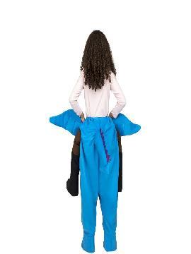disfraz de dragon a hombros para niños