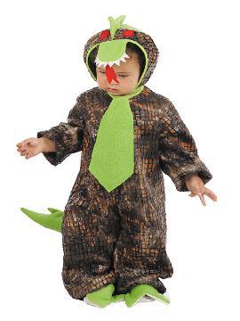 Disfraz de dragón para bebé. Siente toda la magia de los animalitos del fuego con esta adorable cría del animal mitológico en carnaval, halloween. Este disfraz es ideal para tus fiestas temáticas de animales para infantil. fabricacion nacional