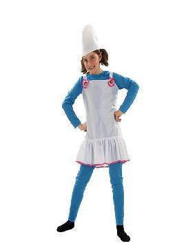 disfraz de duende azul niña