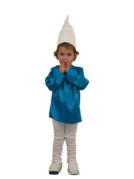 disfraz de duende azul niño