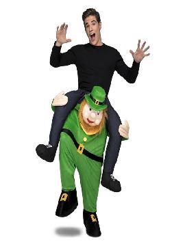 disfraz de duende irlandes a hombros para adultos