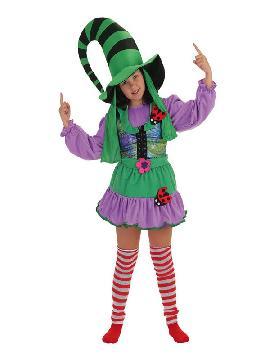 disfraz de duendecilla verde para niña
