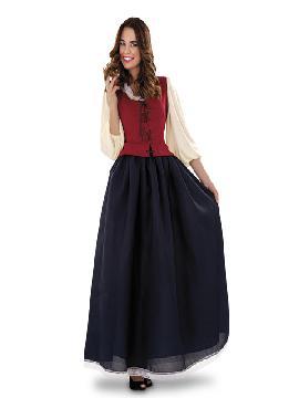 Disfraz de dulcinea mesonera mujer adulto. Compra tu disfraz barato y serás esa encantadora tabernera que amablemente apaga la sed y enamora con su sonrisa. Es ideal para tus ferias y mercados medievales.