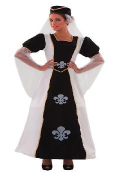 disfraz de duquesa lis para mujer. Conviértete en la esposa de napoléon Bonaparte con este precioso traje y disfruta en tus fiestas temáticas o carnaval.Este disfraz es ideal para tus fiestas temáticas de disfraces epoca y medievales para la edad media de mujer adultos.