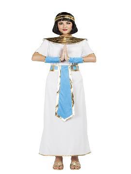 disfraz de egipcia cleopatra para mujer adulto. Presume de elegancia y estilo frente al faraón con este traje de cleopatra. Rodéate de esclavos que te ayuden a estar siempre perfecta para tus fiestas temáticas y carnaval. Este disfraz es ideal para tus fiestas temáticas de disfraces romanos y egipcios para grupos y familias.