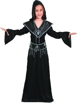disfraz de ejecutora maligna para niña. Vestirás a los más pequeños de la casa de forma divertida para acompañarte en Halloween. Este disfraz es ideal para tus fiestas temáticas de miedo y zombie para infantil.