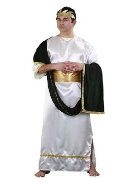 disfraz de el cesar romano hombre. Podrás recrear la época del imperio romano ferias históricas, representaciones teatrales y fiestas temáticas. Este disfraz es ideal para tus fiestas temáticas de disfraces romanos y egipcios para adulto en pareja o familia