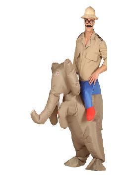 disfraz de elefante a hombros hinchable hombre